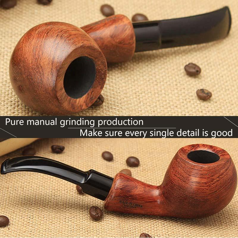 Honno 木製喫煙パイプのギフト男性のための Dollar States 12