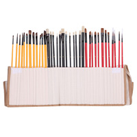36Pcs Artist Paint Brushes Art Set For Acrylic Oil Watercolor 3 Style Portable -Y102