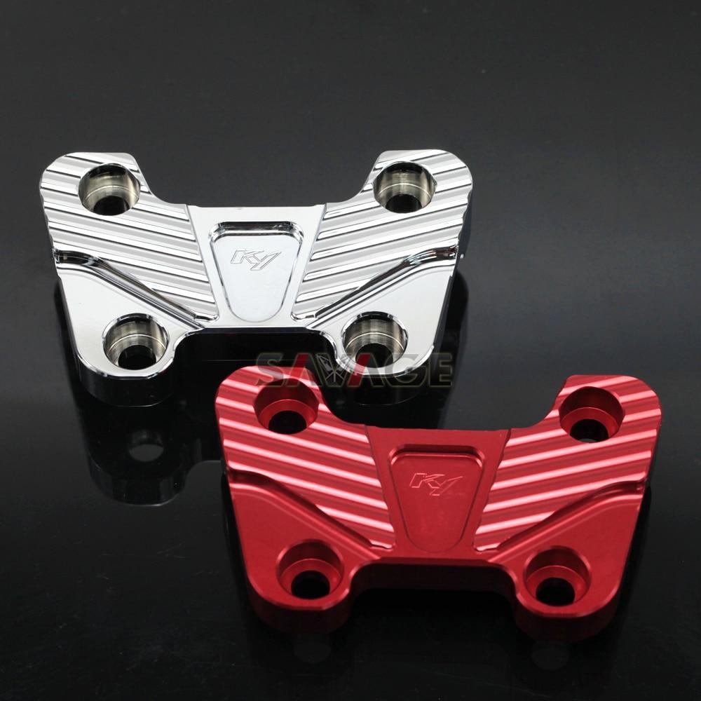 FOR DUCATI MONSTER 696/659 2008-2014 Motorcycle Accessories CNC Aluminum <font><b>Handlebar</b></font> Clamping Cover Cap Motor Bike