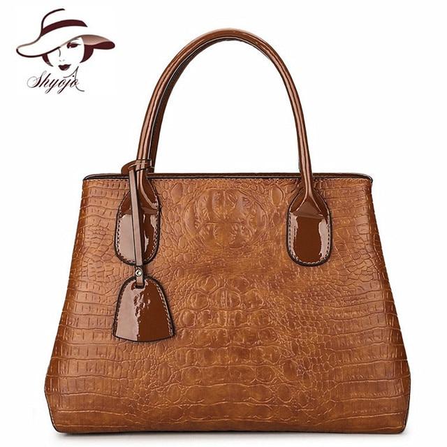 Luxury Brand Fashion New Crocodile Pattern Women Shoulder Messenger Bags Female Crossbody Bags Ladies PU Leather Handbags Bolsas