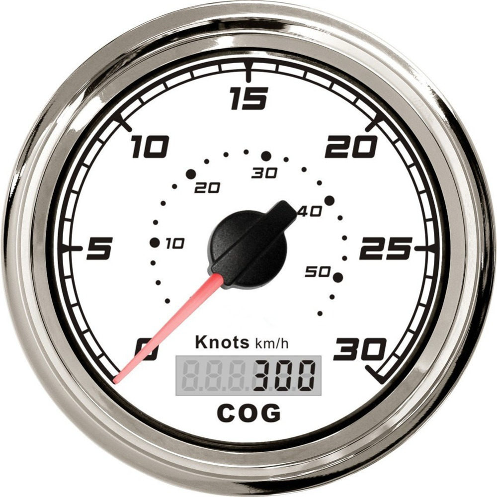 1pc High Quality White GPS Speed Chart 30knots Speedometer Fit For Boat With GPS Antenna Brand