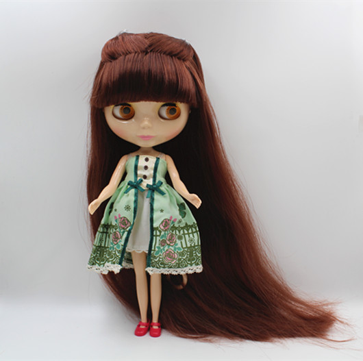 Blygirl Blyth doll Nude Dolls Brown Red Bloody Hair 1/6 Normal Body Extended Edition Hair Doll Doll Toy GiftBlygirl Blyth doll Nude Dolls Brown Red Bloody Hair 1/6 Normal Body Extended Edition Hair Doll Doll Toy Gift