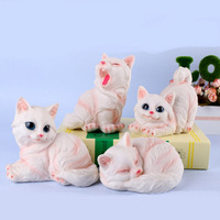 Ornaments Miniature Resin Modle Cat God Decorative Arts Crafts Creative Animal Dollhouse Decoration DIY Accessories Model Gifts