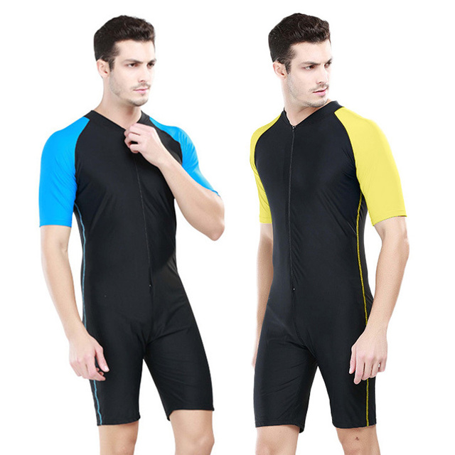 bd381d93f6 SBART Men's One Pieces Diving Suit Swimwear Kite Surfing Swimming Rashguard  Swimsuit Short Sleeve UV Protection Wetsuit