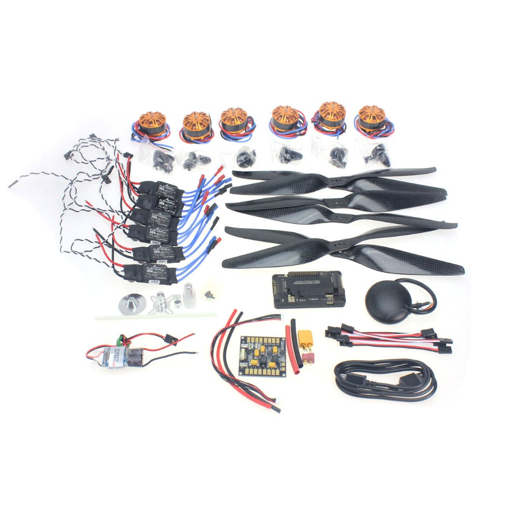 F15276-C Necessity Set with APM2.8 GPS for 680-700 6-Aix RC Drone Quadcopter Hexacopter Multi-Rotor Aircraft DIY Spare Parts Kit f15843 j k l 4 aix helicopter accessories kit with apm 2 8 gps for 450 4 aix rc drone quadcopter hexacopter multi rotor aircraft
