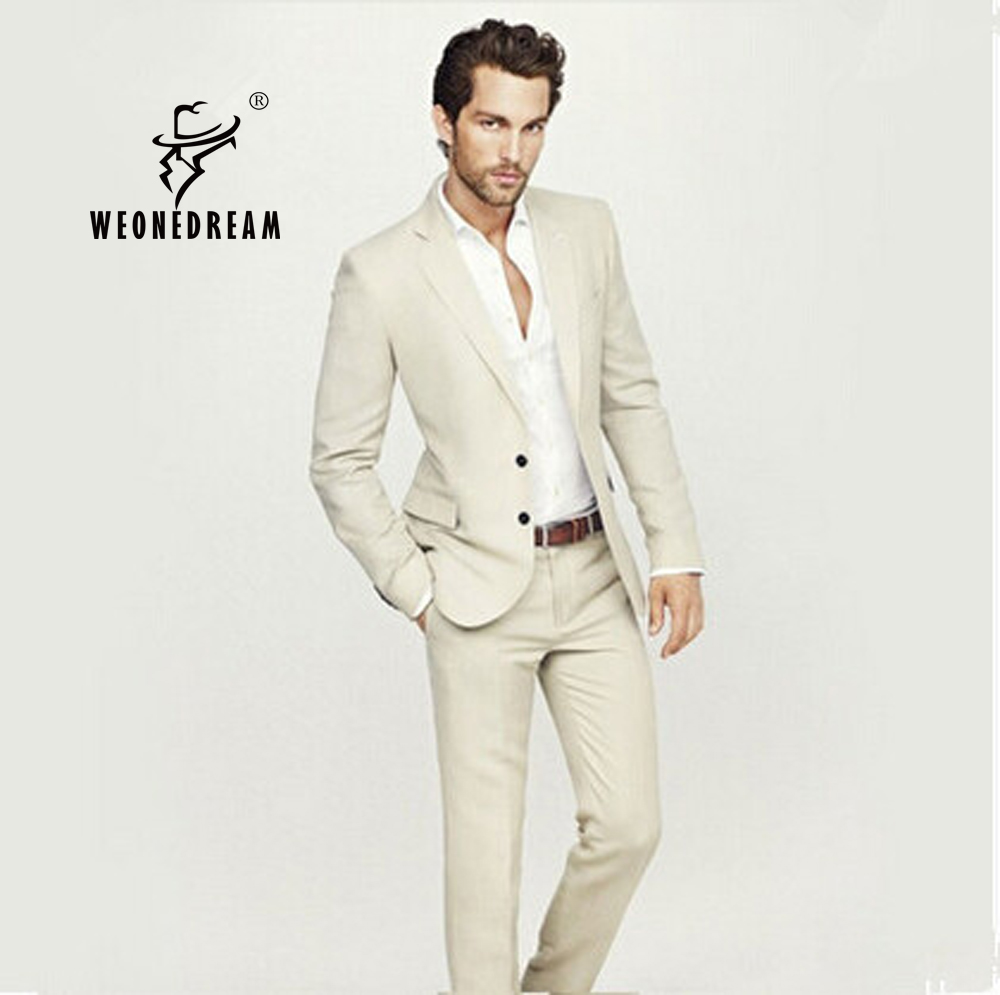 Slim Fit Beige Suit | My Dress Tip