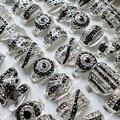 10 шт., распродажа, посеребренные кольца Стразы с полностью хрустальным покрытием для женщин, модные ювелирные изделия, много штук LR173