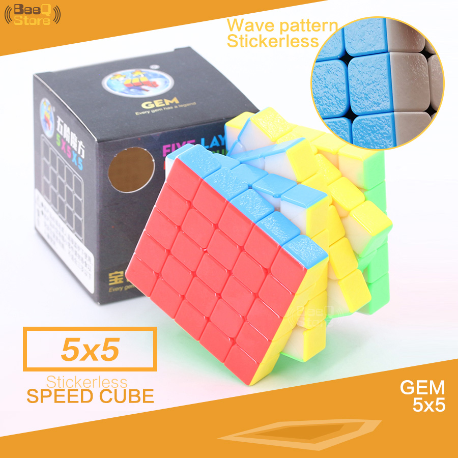 3x3 Oil Painting Puzzle Speed Magic Cube UV Printed Stickerless Educational Toys