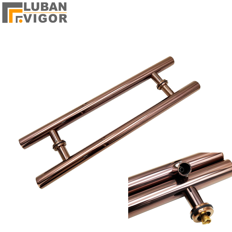 Rose gold,Noble Stainless steel handle, bathroom wooden /glass doors  handle,Electroplating process,Strong and durableRose gold,Noble Stainless steel handle, bathroom wooden /glass doors  handle,Electroplating process,Strong and durable