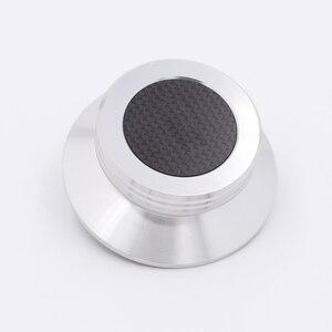 Image 4 - חדש פחמן סיבי אלומיניום סגסוגת LP ויניל פטיפונים מתכת דיסק מייצב שיא משקל/מהדק HiFi