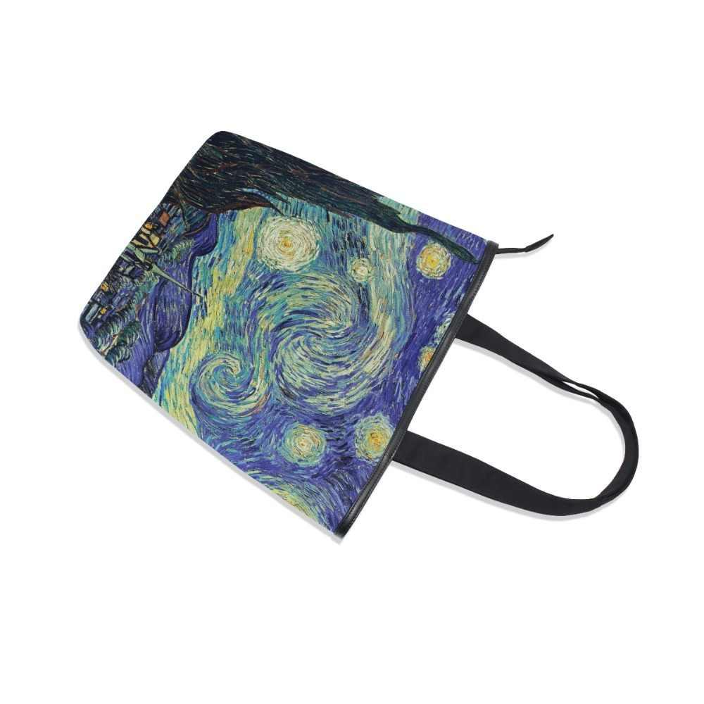 ALAZA 7 картин Ван Гог Холщовая Сумка на плечо винтажная женская сумка большого размера Женская Повседневная Прямая доставка горячая распродажа