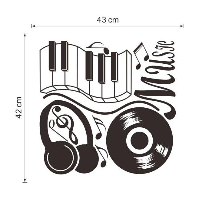 Music Sticker Headphones Theme Music Bedroom Decor Dancing Music