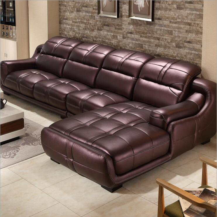 Good Quality Leather Sofa: High Quality European Living Room Leather Sofa O1211-in