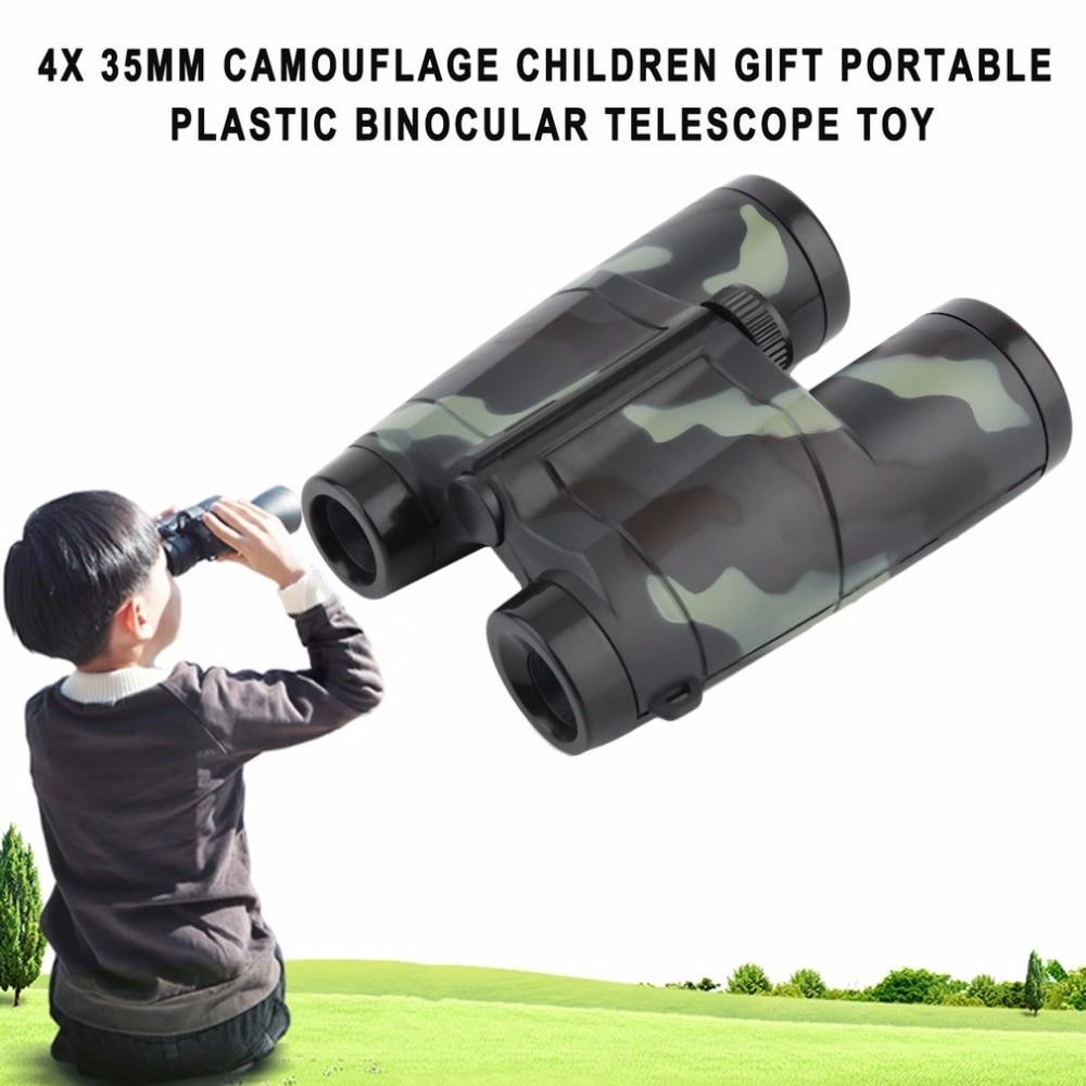 Image 2 - Niños plegable al aire libre Mini binoculares telescopio alcance juguete de camuflaje niños niño portátil regalo Deportes de caza gran ofertaportable scopebinoculars camouflagesport hunting -