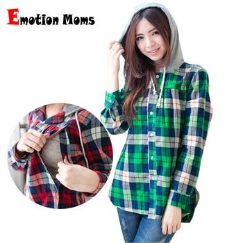 073de630f5e85 Long Sleeve plaid shirt maternity clothes nursing top maternity tops—Free  Shipping