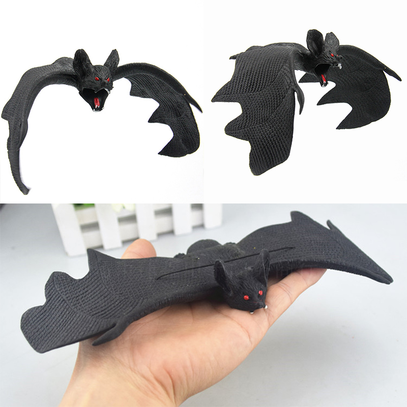 Horror Halloween Fake Bats Jokes Toys Childrens Gifts Party Decorations ...