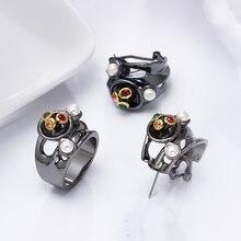 2 шт/комплект женские серьги и кольца