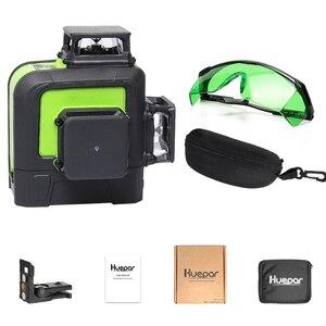 Image 5 - Huepar 12 라인 3D 크로스 라인 레이저 레벨 그린 레이저 빔 셀프 레벨링 360 수직 및 수평 레드 레이저 강화 안경