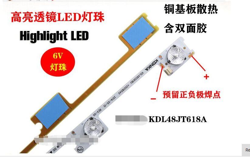 442mm 6v 20 Pieces/lot Original New Led Backlight Bar Strip For Kdl48jt618a 35018539 6 Leds