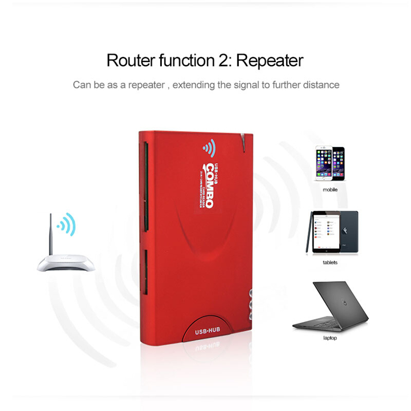 Power Bank Wireless Network Storage Wireless Card Reader with  Wireless Hub and 2-in-1 Function  USB 3G Router for Smart phone uwinka mc u6c multi in 1 water resistance shockproof memory card storage box red