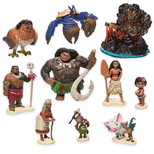 10 Pcs/ensemble Moana Princesse Prévente 2016 Nouvelle Moana Maui Waialik Heihei Pua Figurines Jouet Décoration Cadeau 6-10 cm Moana Jouets
