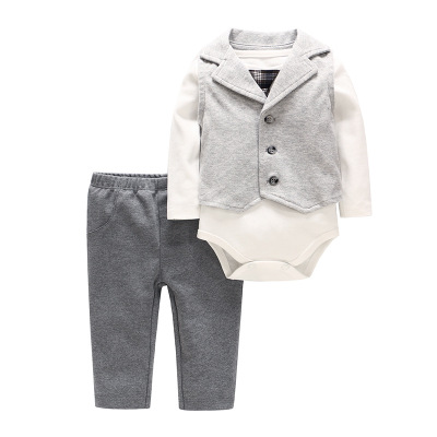 2019 New Baby Clothing Sets Newborn Infant Boy Clothes Three-Piece Suit Outfits Spring Cotton Long-Sleeve Infant Outfits Sets2019 New Baby Clothing Sets Newborn Infant Boy Clothes Three-Piece Suit Outfits Spring Cotton Long-Sleeve Infant Outfits Sets