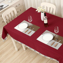 High Quality Tablecloths Art New European Solid Cotton Fabric Tablecloth Rectangular Table Cloth Cover Hotel Restaurant