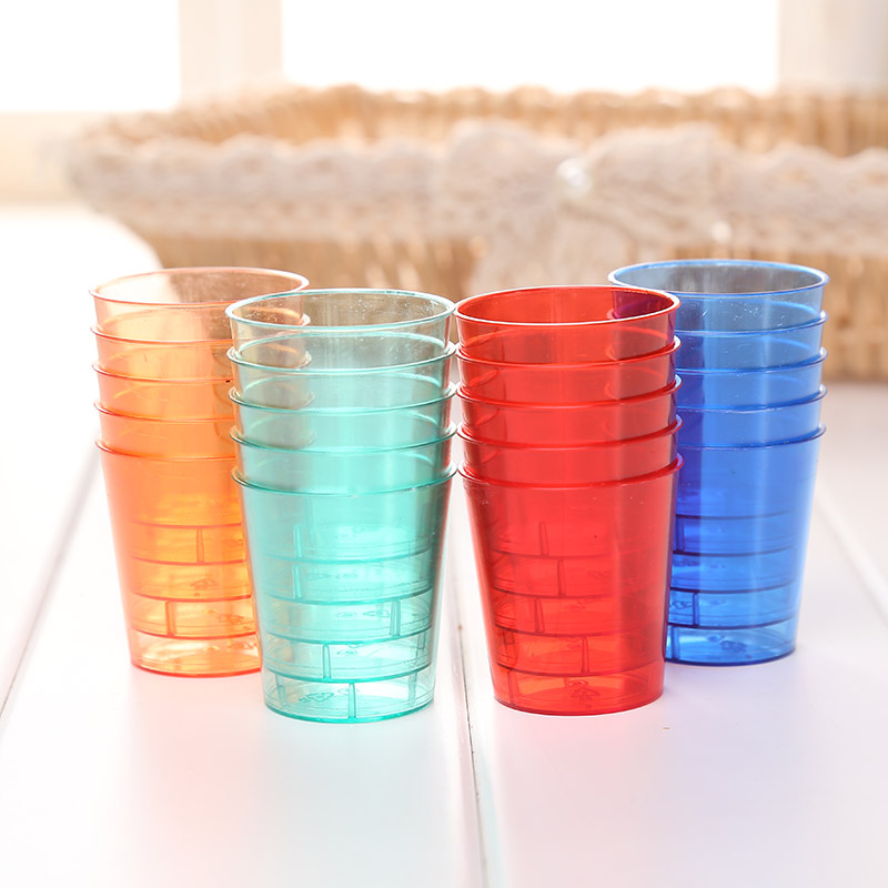 Vasos desechables de color compra lotes baratos de vasos for Vasos de colores de cristal
