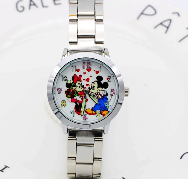2018 Minnie Watch Men Stainless Steel Women Watches Cartoon Mouse Clock students