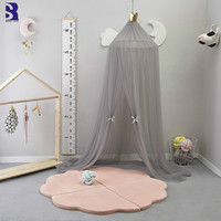 SunnyRain 10 Layers Tulle Crib Canopy Mosquito Bed Tent Baby Mosquito Nets Bed Net Round Dome Canopy 240cm Height