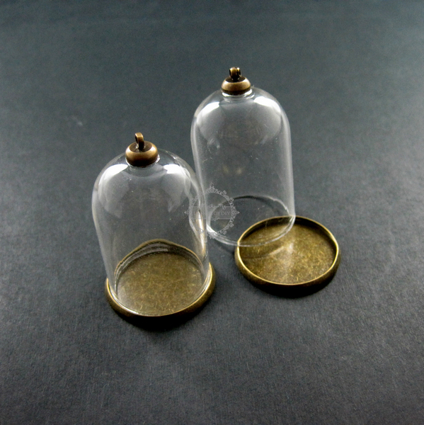 25x35mm vintage brass bronze glass tube bottle dome pendant charm 25x35mm vintage brass bronze glass tube bottle dome pendant charm settings jewelry findings supplies 1810196 in charms from jewelry accessories on aloadofball Gallery
