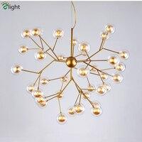Пост современный двойной Стекло абажуры G4 светодио дный подвесной светильник люстра, подвесной светильник для Гостиная Luminaria приостановит