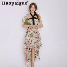 Plus Size Print Floral Women's Asymmetric Dresses Off-Shoulder Big Swing Casual Women Korean Dress Flower Midi Robe Longue Femme все цены