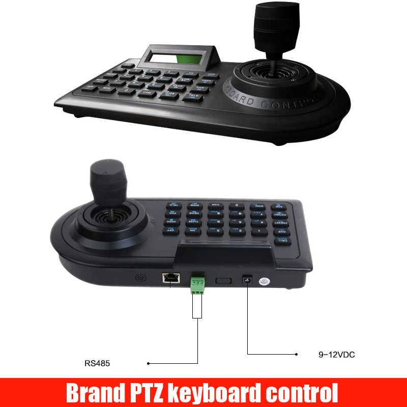 3d 3 axis ptz joystick ptz controller keyboard rs485 pelco-d/p w/lcd