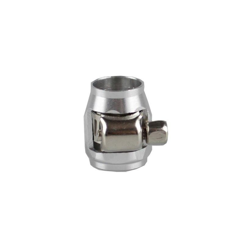 Rastp-красочные применяются к AN8 масляные зажимы для топливного шланга концевые Отделители Алюминиевый шланг соединитель для шланга зажимы RS-TC008-AN8 - Цвет: Silver
