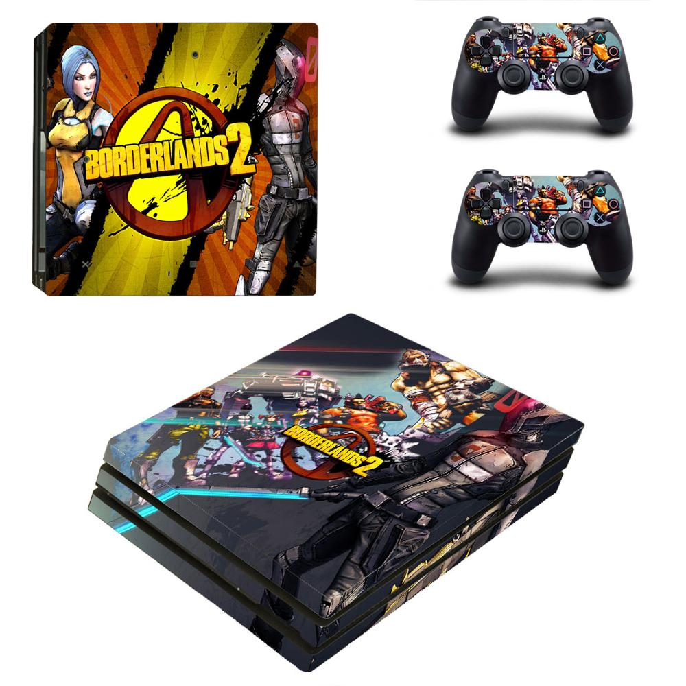 Game Borderlands PS4 Pro Skin Sticker Decal for PlayStation 4 Console and Controllers PS4 Pro Skin Sticker Vinyl
