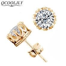 Qcooljly оптовая продажа модные серьги золотого цвета в форме