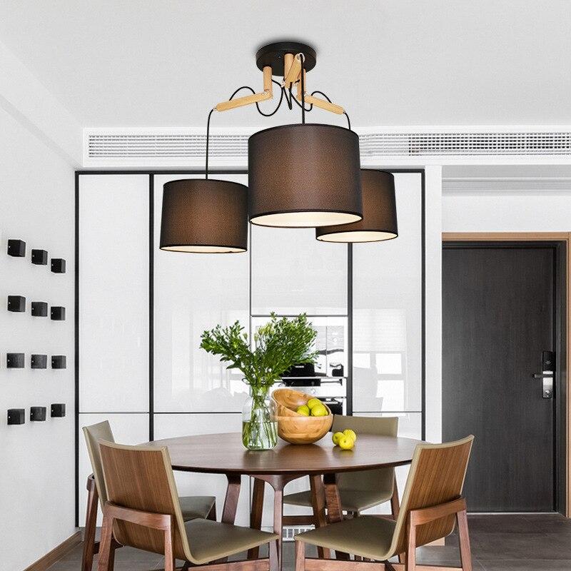 led chandelier European-style living room lamp modern minimalist bedroom lamp personality dining room chandelier