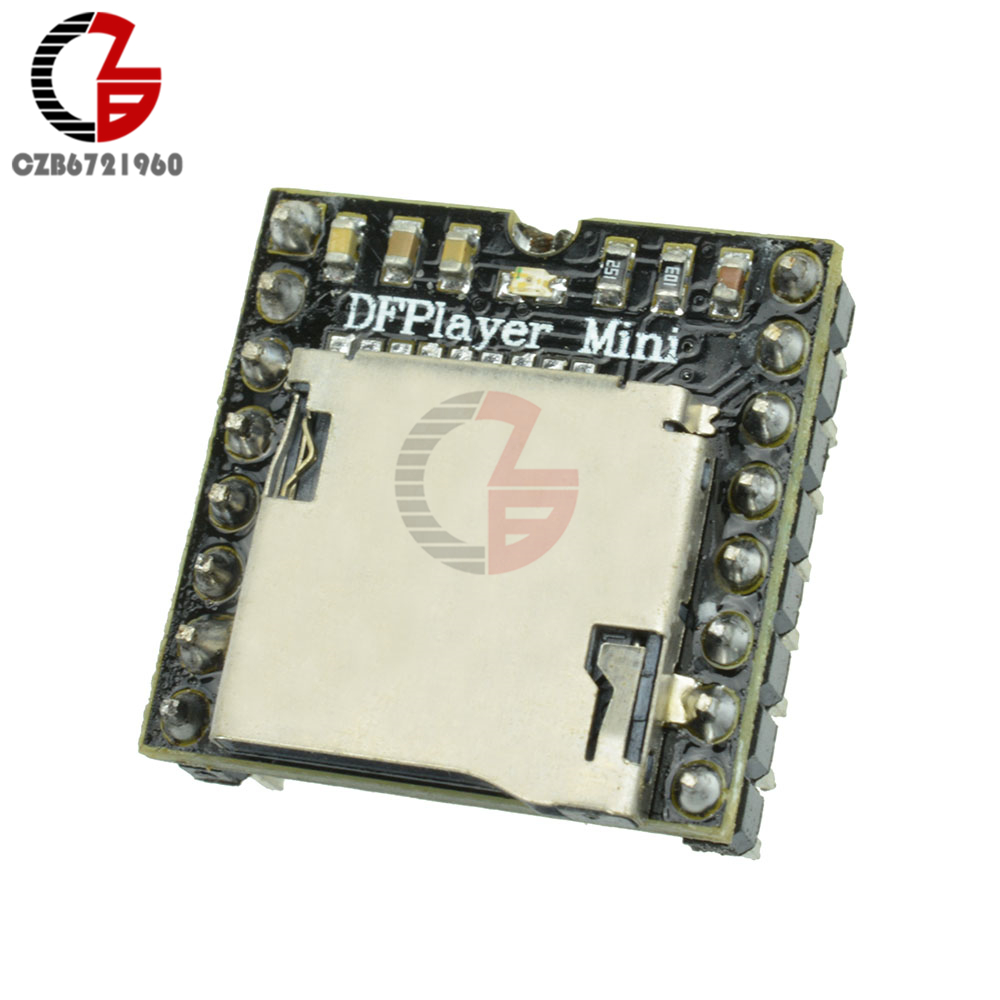 DFPlayer Mini MP3 Player Module MP3 Voice Decode Board for Arduino Support TF Card U-Disk IO/Serial Port/AD DIY Electronics