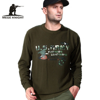 Mege Brand Clothing New Autumn Military Sweater Cotton Army Pullover Casual Knitted Sweaters Male Pull Homme