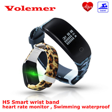 H5 смарт запястье монитор сердечного ритма фитнес запуск плавание сна монитор браслет водонепроницаемый спортивные часы для iphone android pk id107