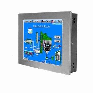 Image 1 - 12.1 cal bez wentylatora panel przemysłowy PC 4 * com tablet z ekranem dotykowym obsługa komputera PC windows xp/windows10 systemu