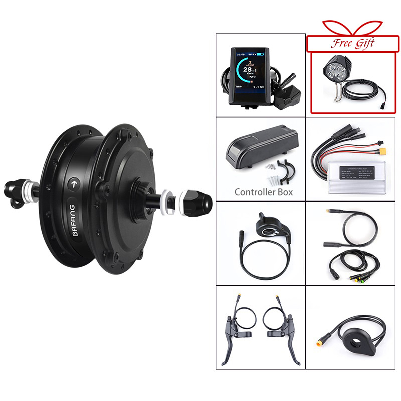 Bafang 500W 48V Gear Hub Motor Electric Bike Conversion Kit for Bicycle 20 26 27 5