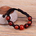 Pure Natural Red  Agate Bracelet 8mm/10mm Round Beads Bracelet Crystal Bangles Bracelets Gift for Women Jade Jewelry