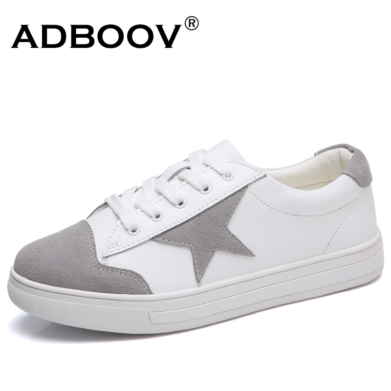 ADBOOV New Cow Leather Flat Shoes Woman Patchwork Fashion Sneakers Lace Up Casual Women Shoes Tenis Feminino Zapatillas Mujer ...