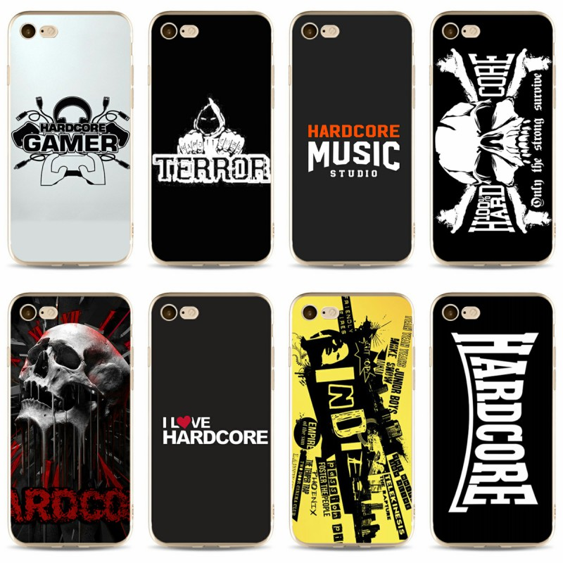 Hardcore music Cover high quality Soft Silicone 2018 TPU Phone Case For  iPhone 5 5C 5S SE X 6 6S 6plus 7 7plus 8 8plus