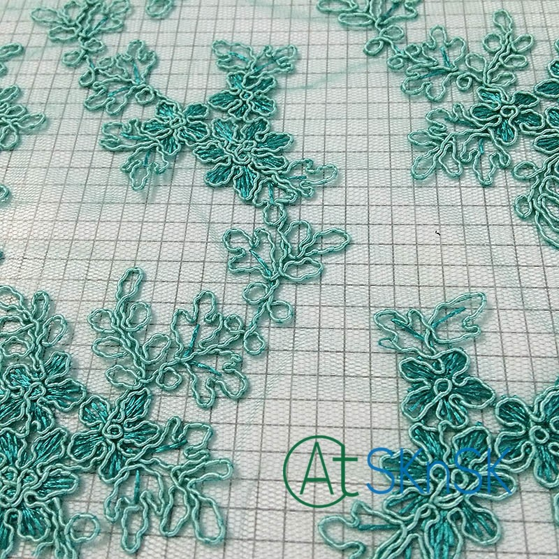300yardslot Flower Green Embroidery Lace Fabric Wedding Decorations
