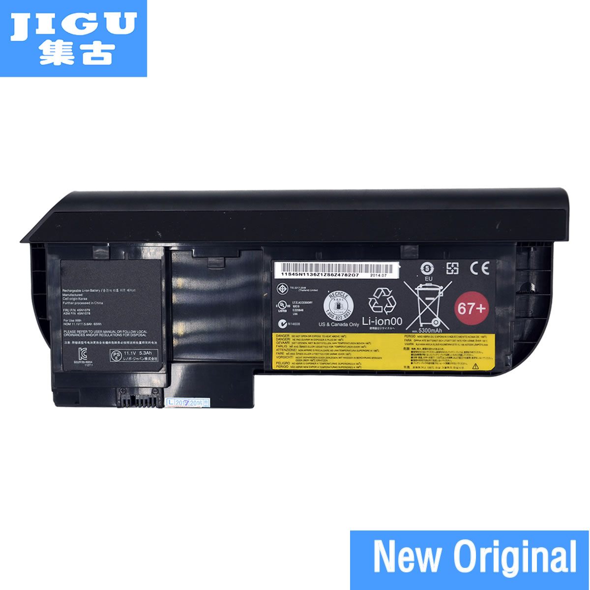 JIGU ORIGINAL LAPTOP BATTERY FOR LENOVO for ThinkPad X230 Tablet X230T Series 0A36285 42T4878 42T4879 42T4881 42T4882 original new 45n1097 battery for lenovo thinkpad tablet 2 batteria batteries 3 7v 8 12ah 30wh page 1