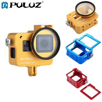 PULUZ Housing Shell For GoPro HERO 5 6 7 Black CNC Aluminum Alloy Hard Protective Cage Frame Case For GoPro Hero 2018
