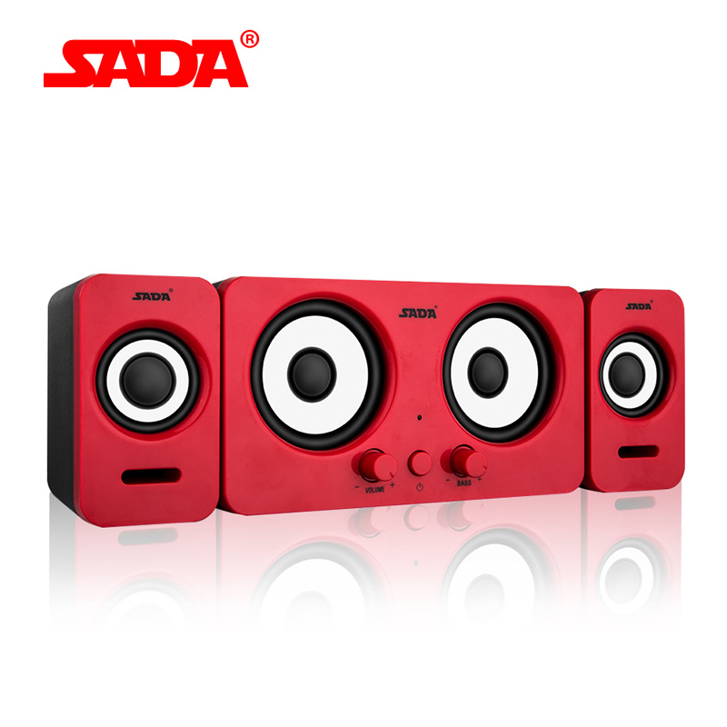 SADA D-220 Compact and Dignified shape Portable Multimedia Laptop Computer Speaker Support AUX Input by USB Volume Control ...
